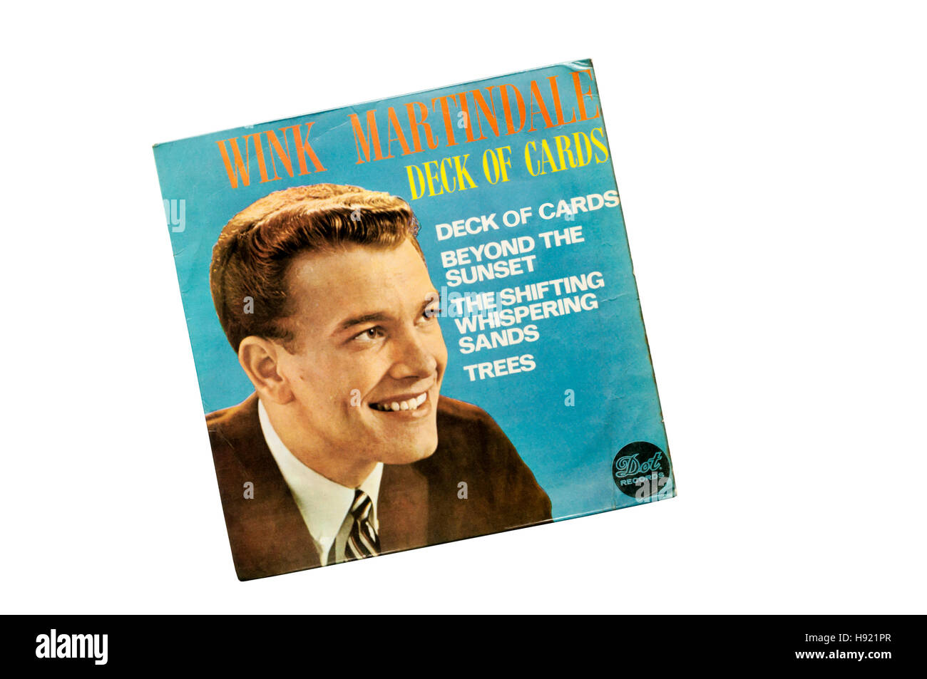 EP of Deck of Cards by American DJ and game show host Wink Martindale.  Released in 1959 by Dot Records. - Stock Image