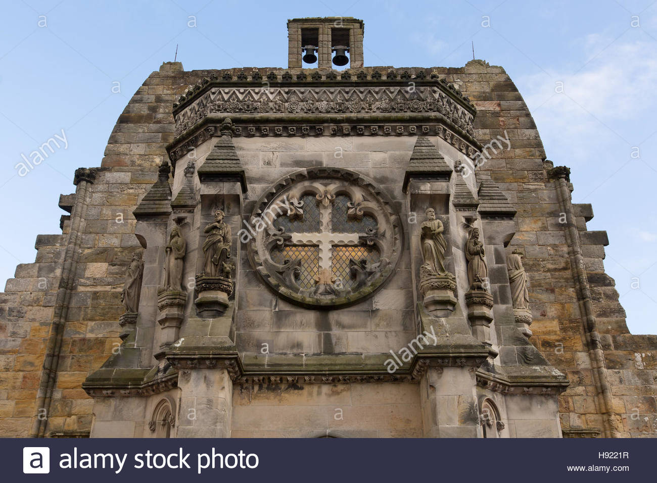 Roslin, Edinburgh, Scotland, 16th, November, 2016 A photo of the external west face Rosslyn Chapel taken during - Stock Image