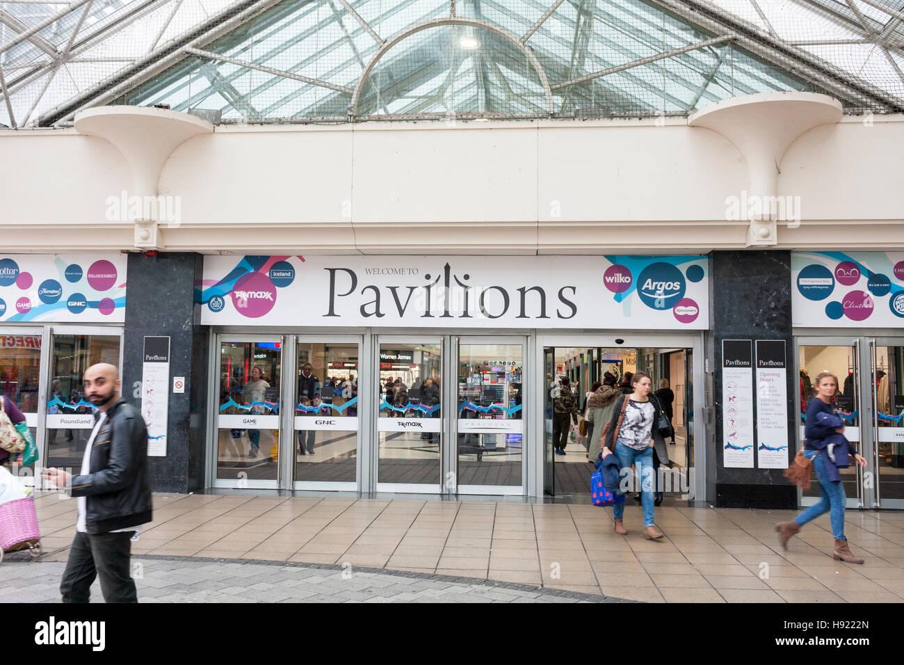 Entrance to the Pavilions Shopping Centre, Uxbridge, Hillingdon, Greater London, UK - Stock Image