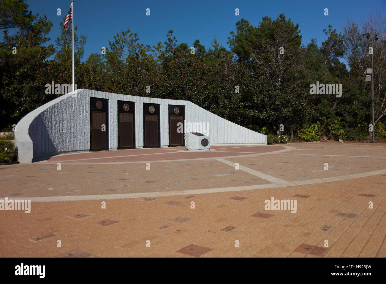 Explosive Ordnance Disposal (EOD) Memorial at Eglin Air Force Base in Florida.  A memorial to all the technicians - Stock Image