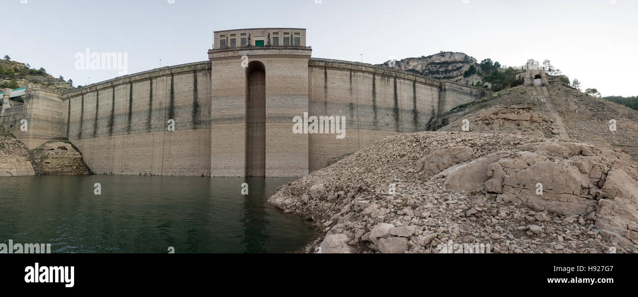 Closeup view of low level reservoir Stock Photo