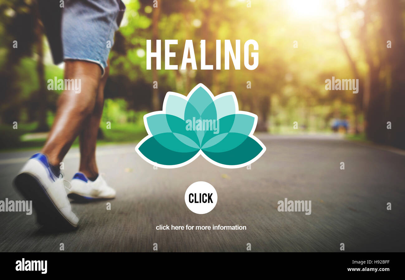 Healing Therapy Wellbeing Wellness Concept - Stock Image