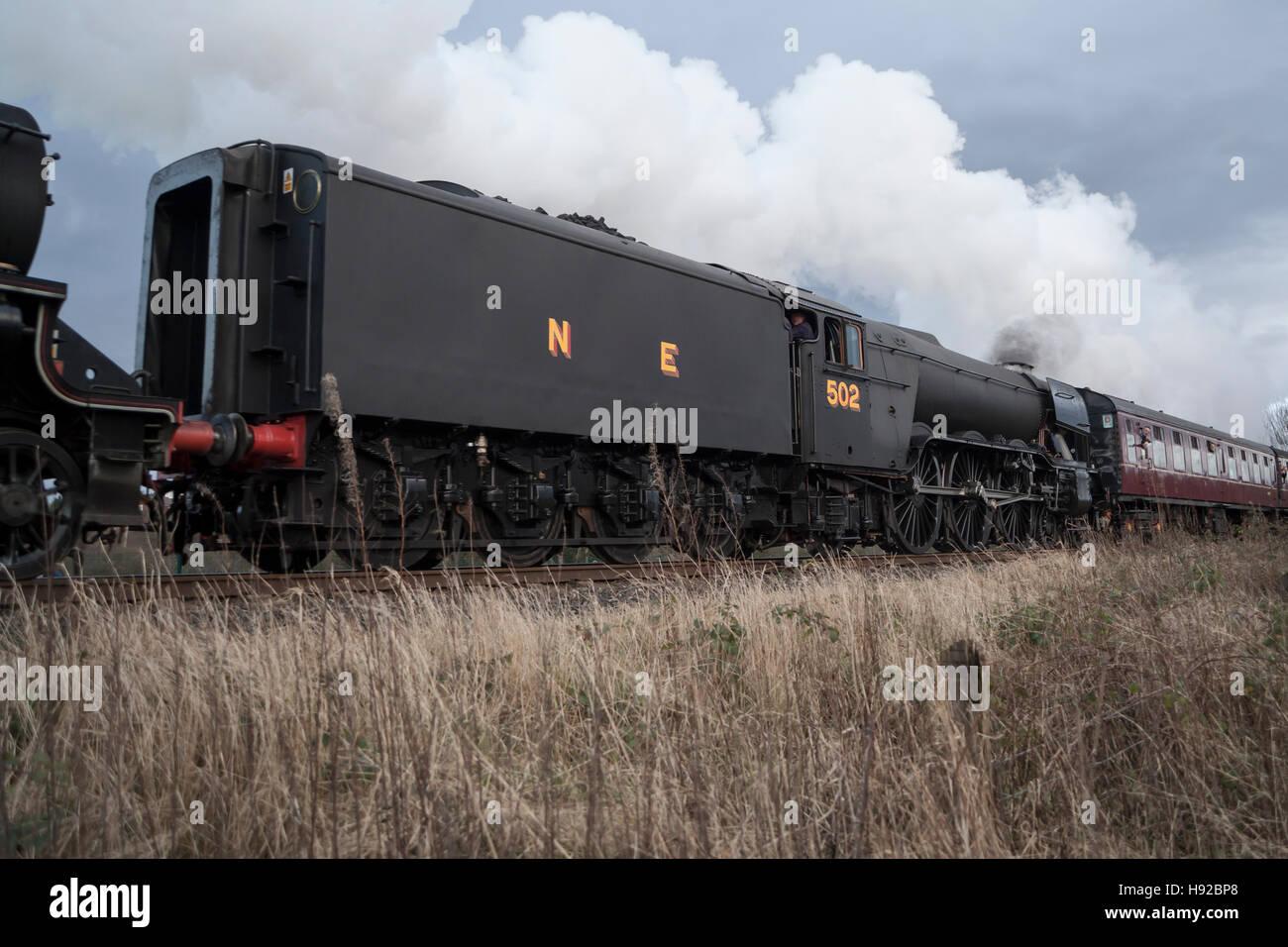 Flying Scotsman on East Lancs Railway - Stock Image