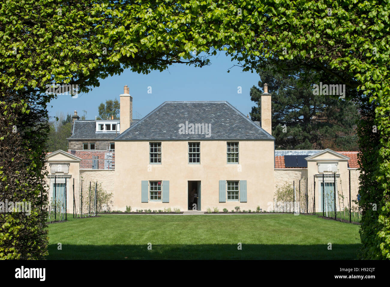 The newly restored Georgian Cottage within the grounds of the Royal Botanic gardens, Edinburgh. - Stock Image