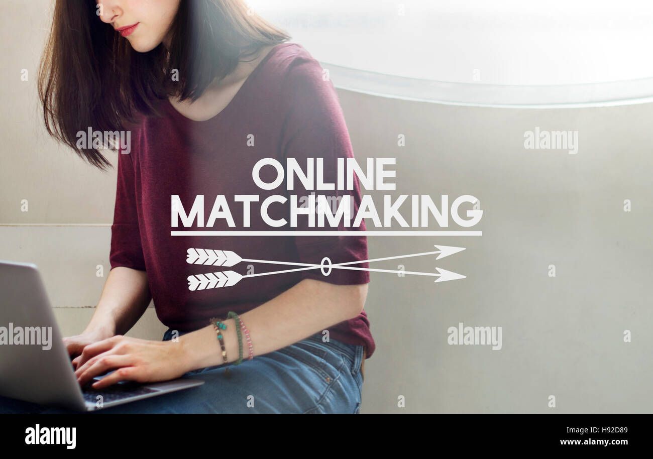 Online Dating Online Matching Relation Online Concept - Stock Image