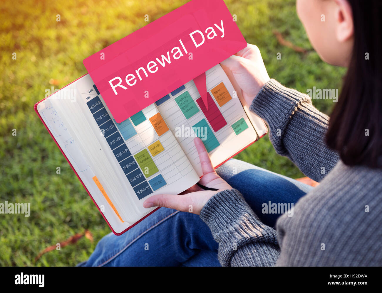 Renewal Day Care Change Conservation Manage Concept - Stock Image