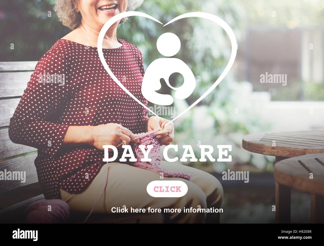 Day Care Babysitter Nanny Nursery Love Motherhood Concept - Stock Image