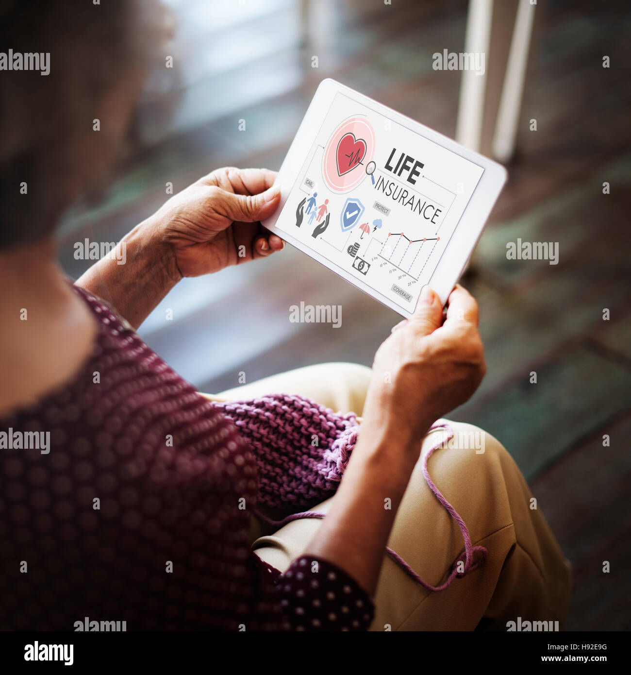 Life Insurance Protection Beneficiary Safeguard Concept - Stock Image