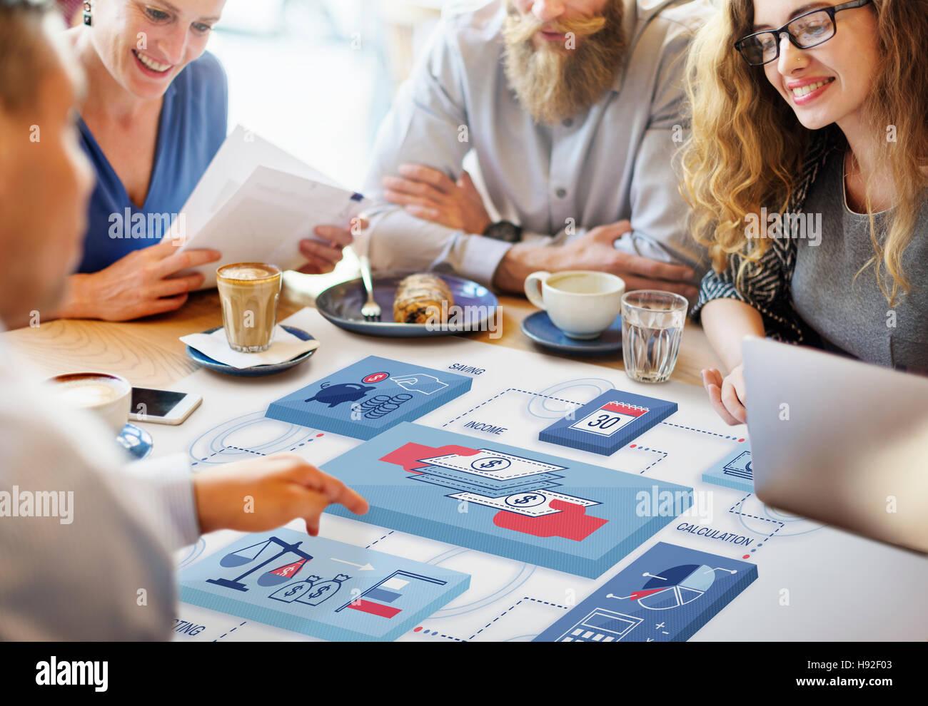 Commerce Corporate Invest Wealth Economy Concept - Stock Image