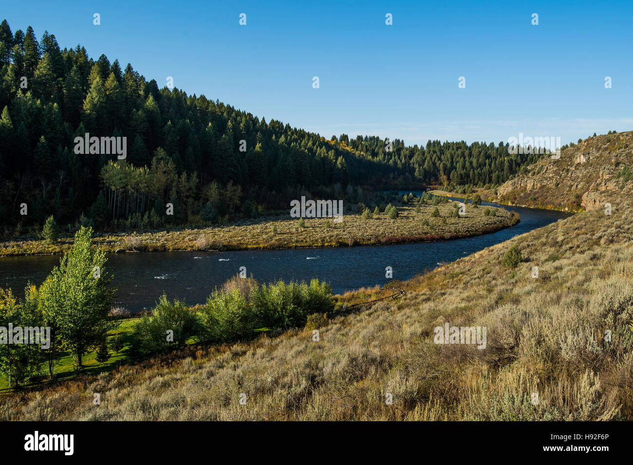 The Henry's Fork River in Idaho - Stock Image