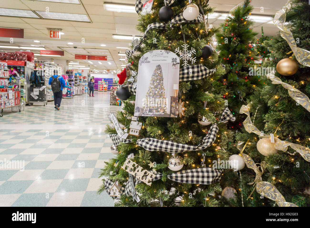 Seasonal Christmas display in a KMart store in New York on Tuesday ...
