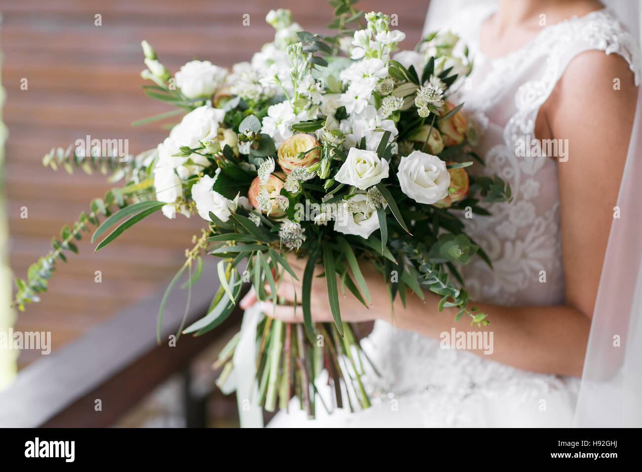 Bridal bouquet. The bride\'s . Beautiful of white flowers and Stock ...