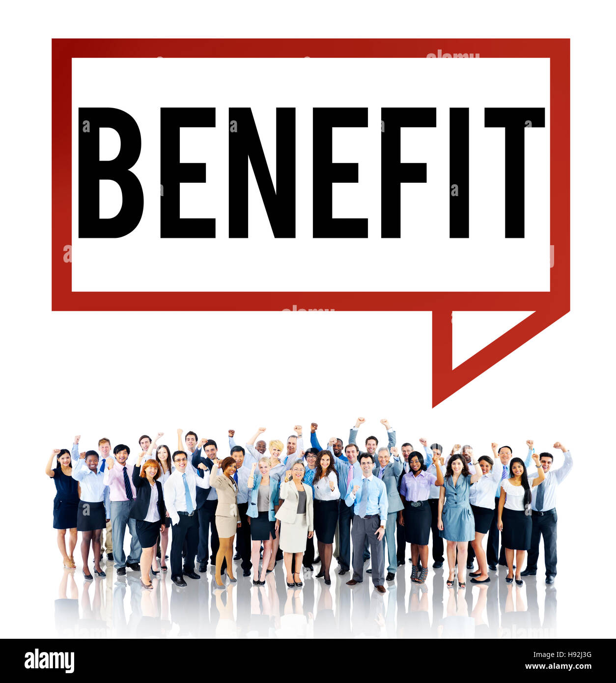 Benefit Charity Income Profit Value Wages Welfare Concept - Stock Image