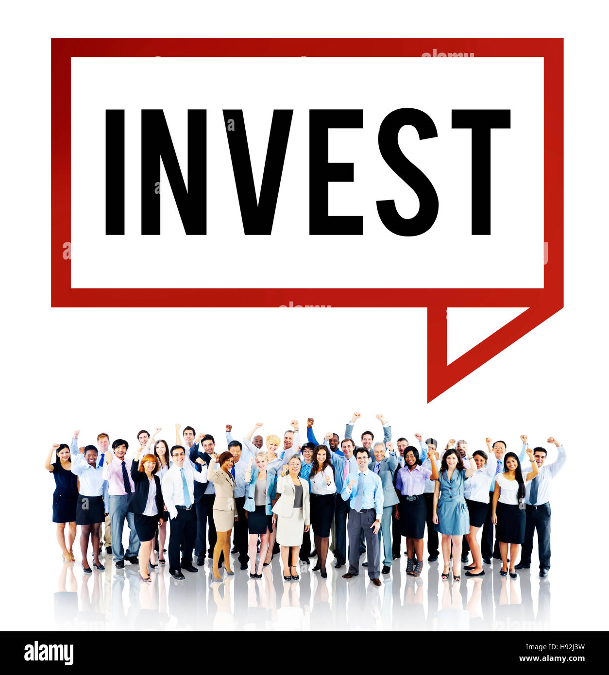 Invest Investment Economy Financial Marketing Concept - Stock Image