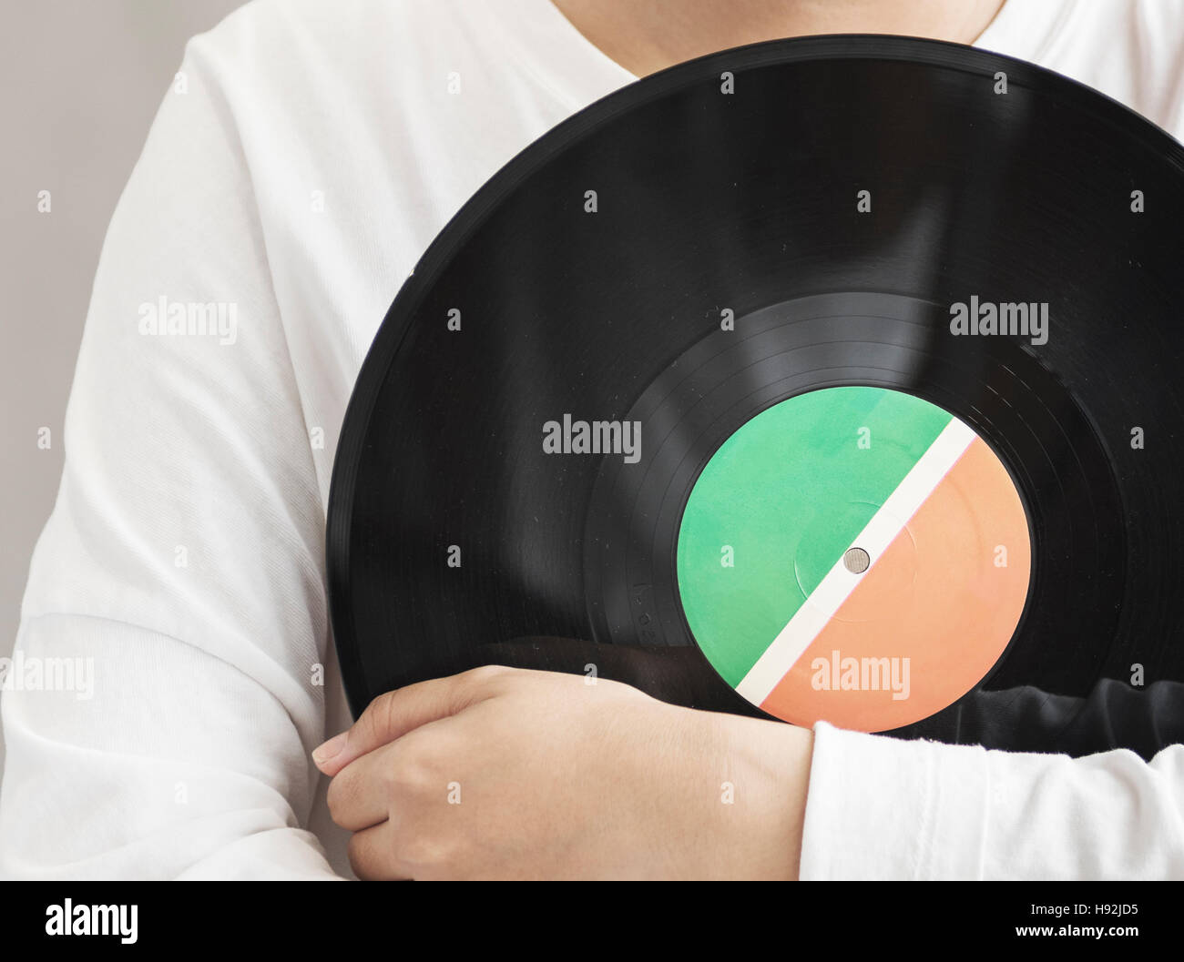 Vinyl Analog Audio Classic Record Spin Vintage Concept - Stock Image