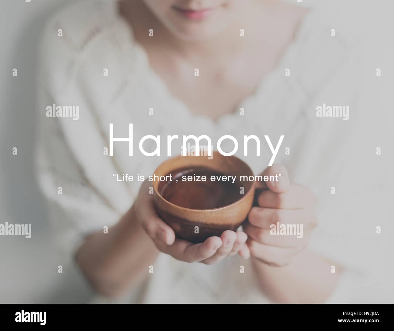 Harmony Happiness Activity Life Concept - Stock Image