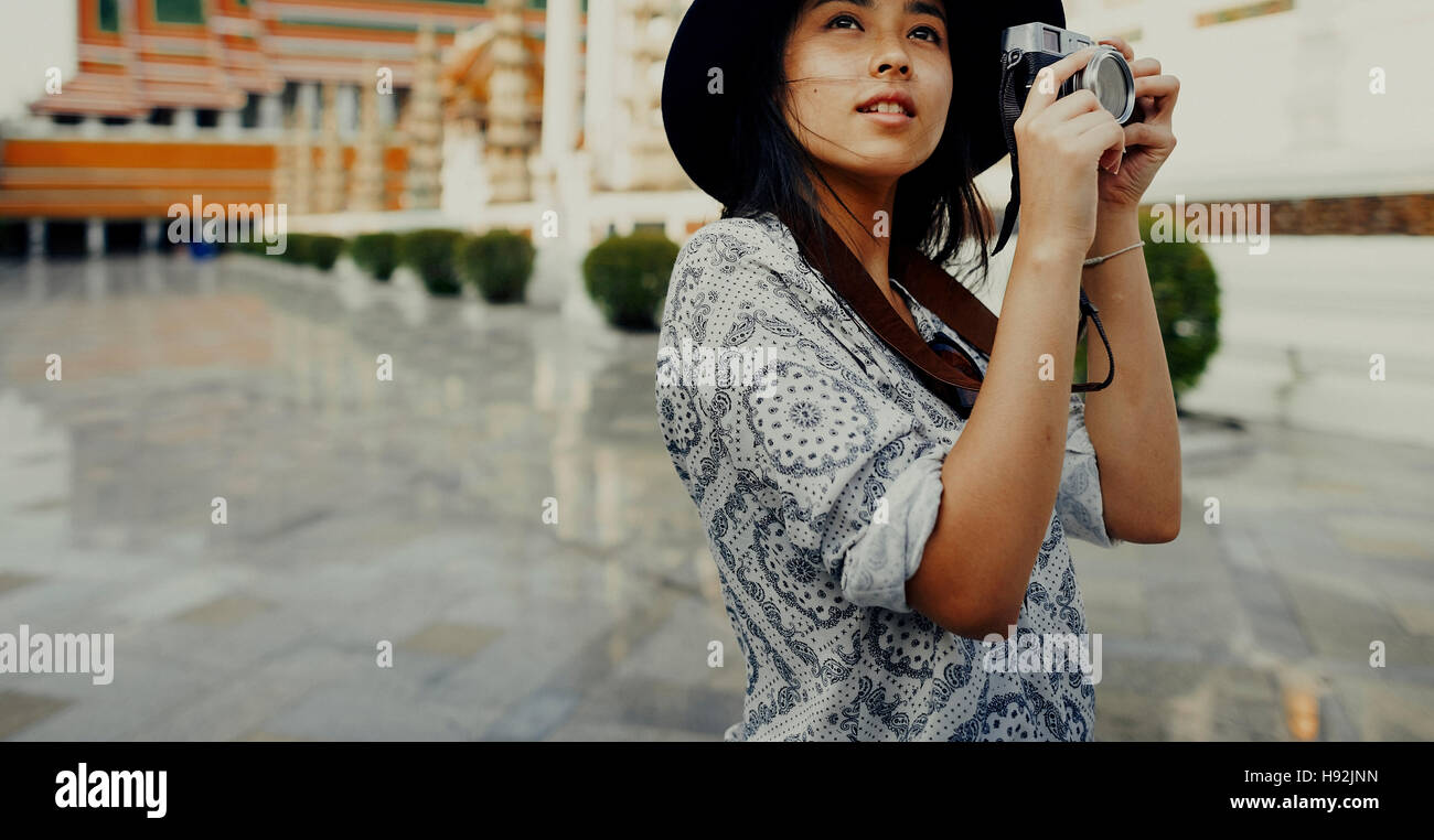 Photographer Travel Sightseeing Wander Hobby Concept - Stock Image