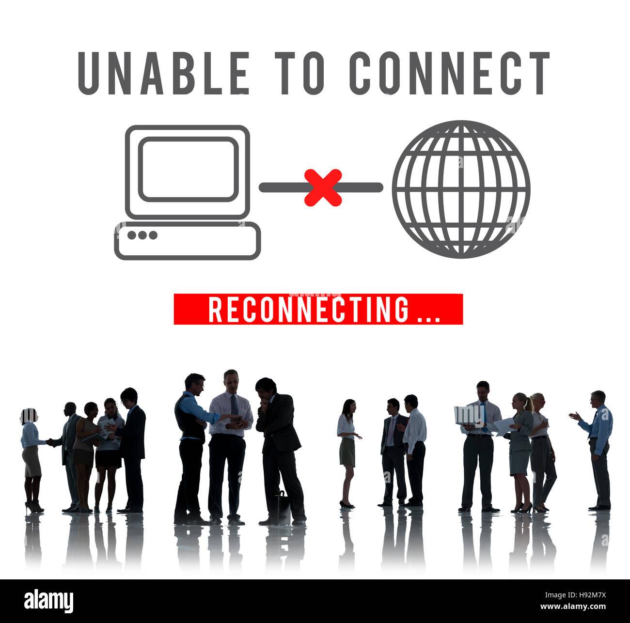Unable Connect Disconnect Error Failure Problem Concept - Stock Image