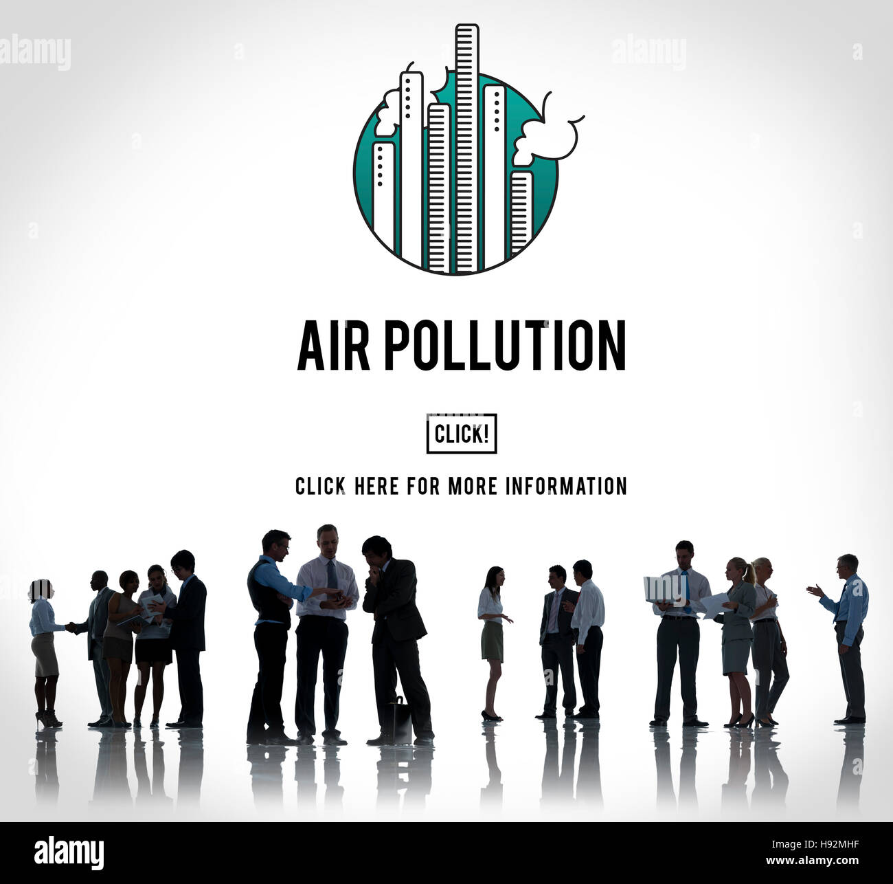 Air Pollution Carbon Dioxide Dirty Energy Toxic Concept - Stock Image