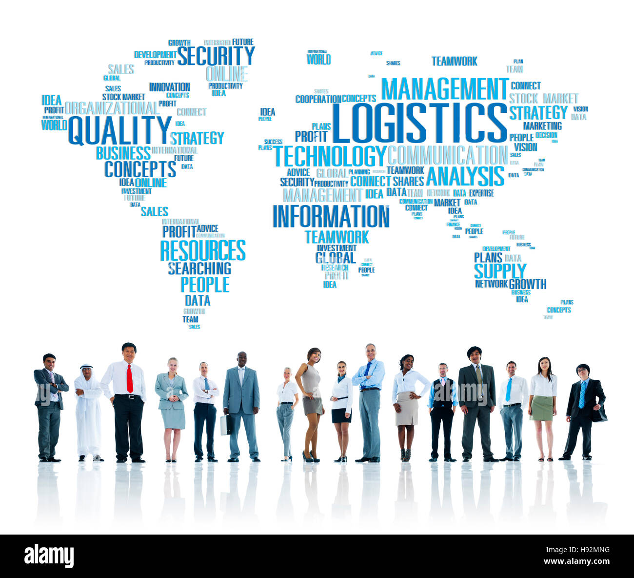 Logistics Management Freight Service Production Concept - Stock Image
