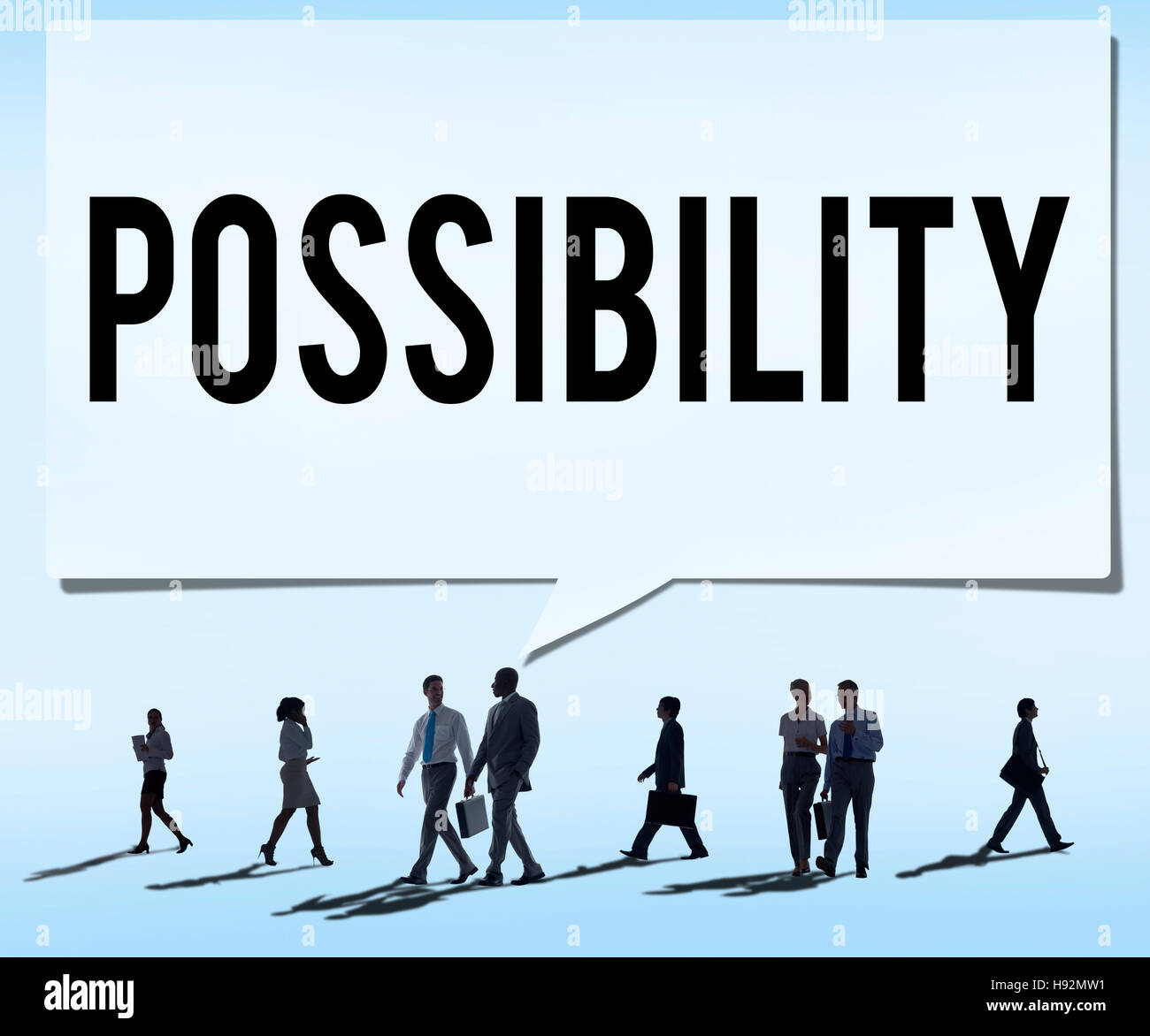 Possibility Possible Occasion Hope Feasibility Concept - Stock Image