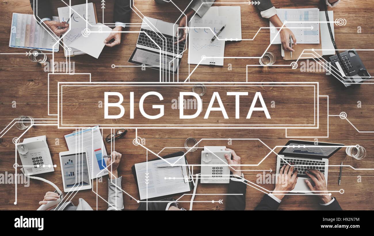 Big Data Storage Network Online Server Concept - Stock Image