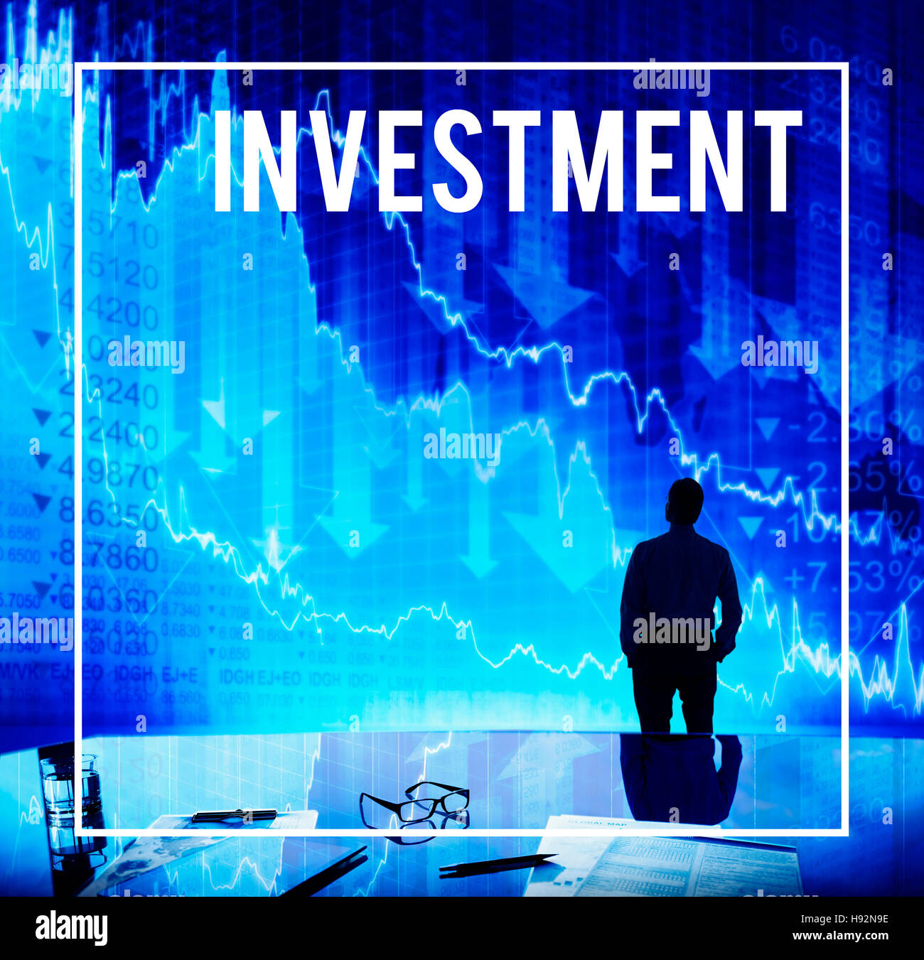 Investment Invest Finance Money Budget Concept - Stock Image