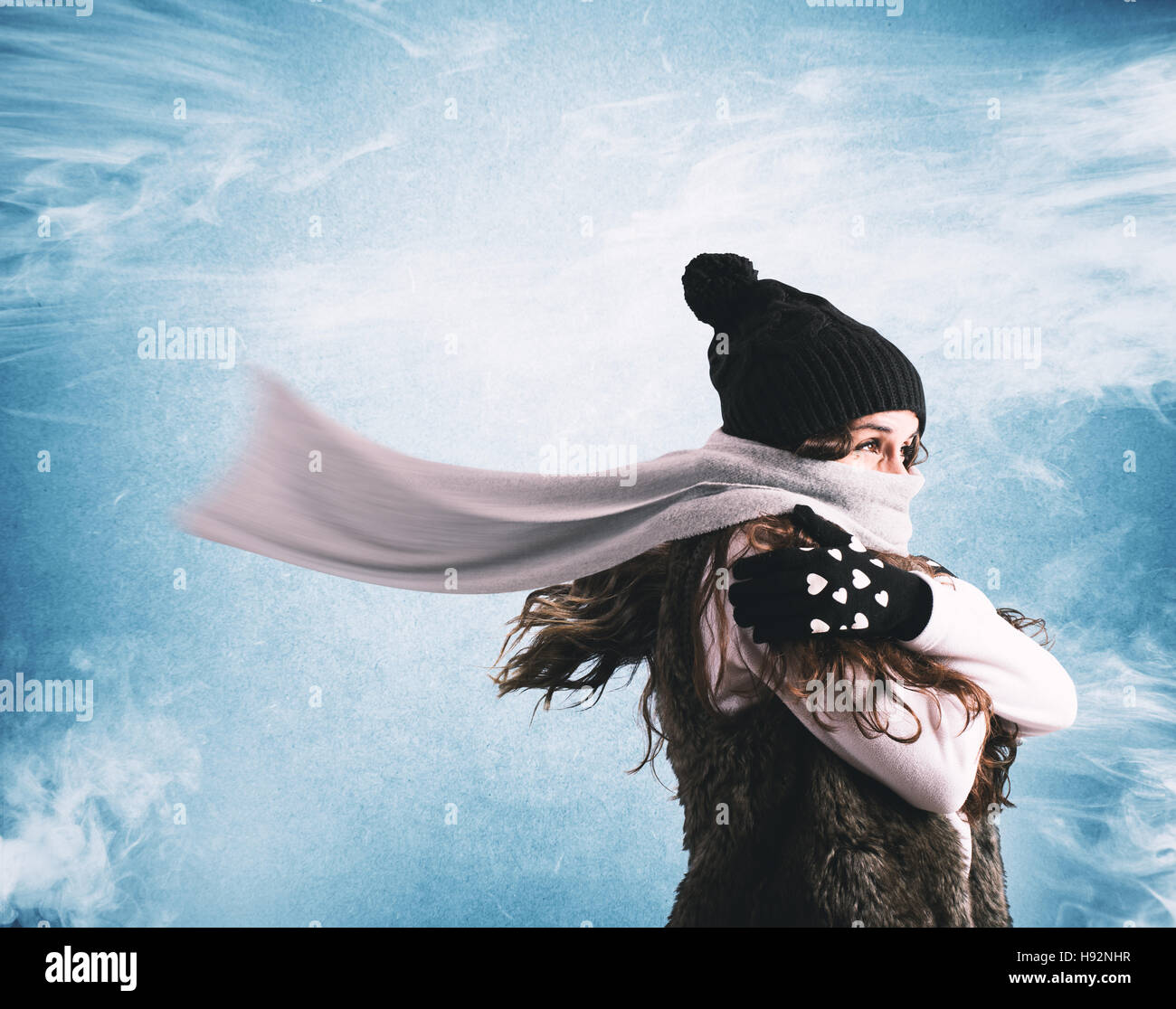 Cold winter - Stock Image