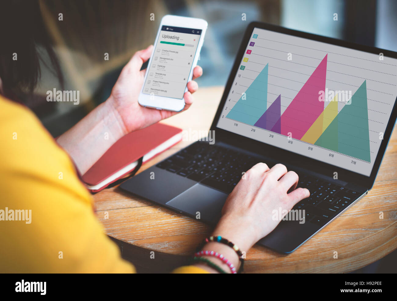 Analysis Business Triangle Chart Concept - Stock Image