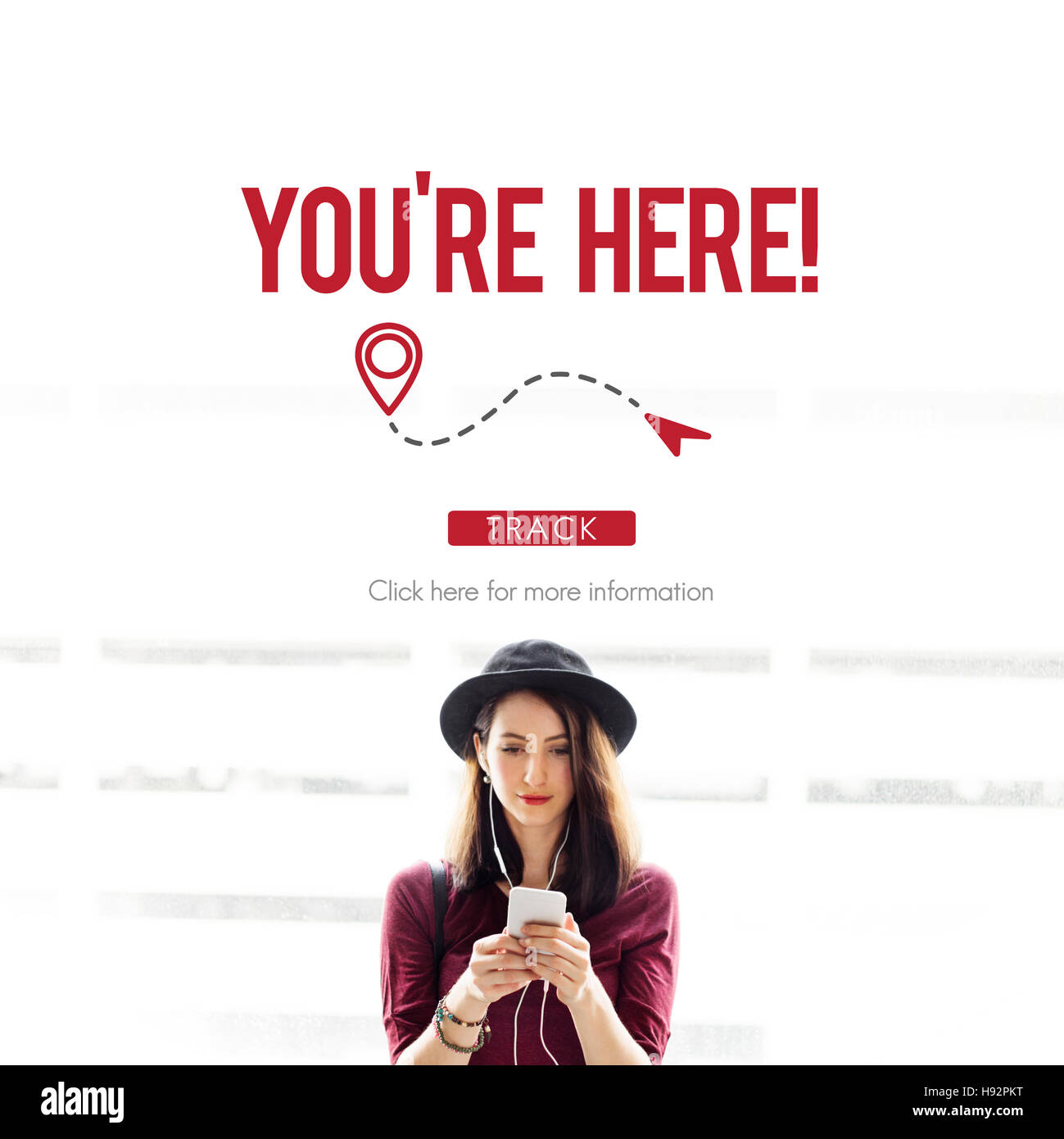 You Are Here Navigate Position Location Planning Concept - Stock Image
