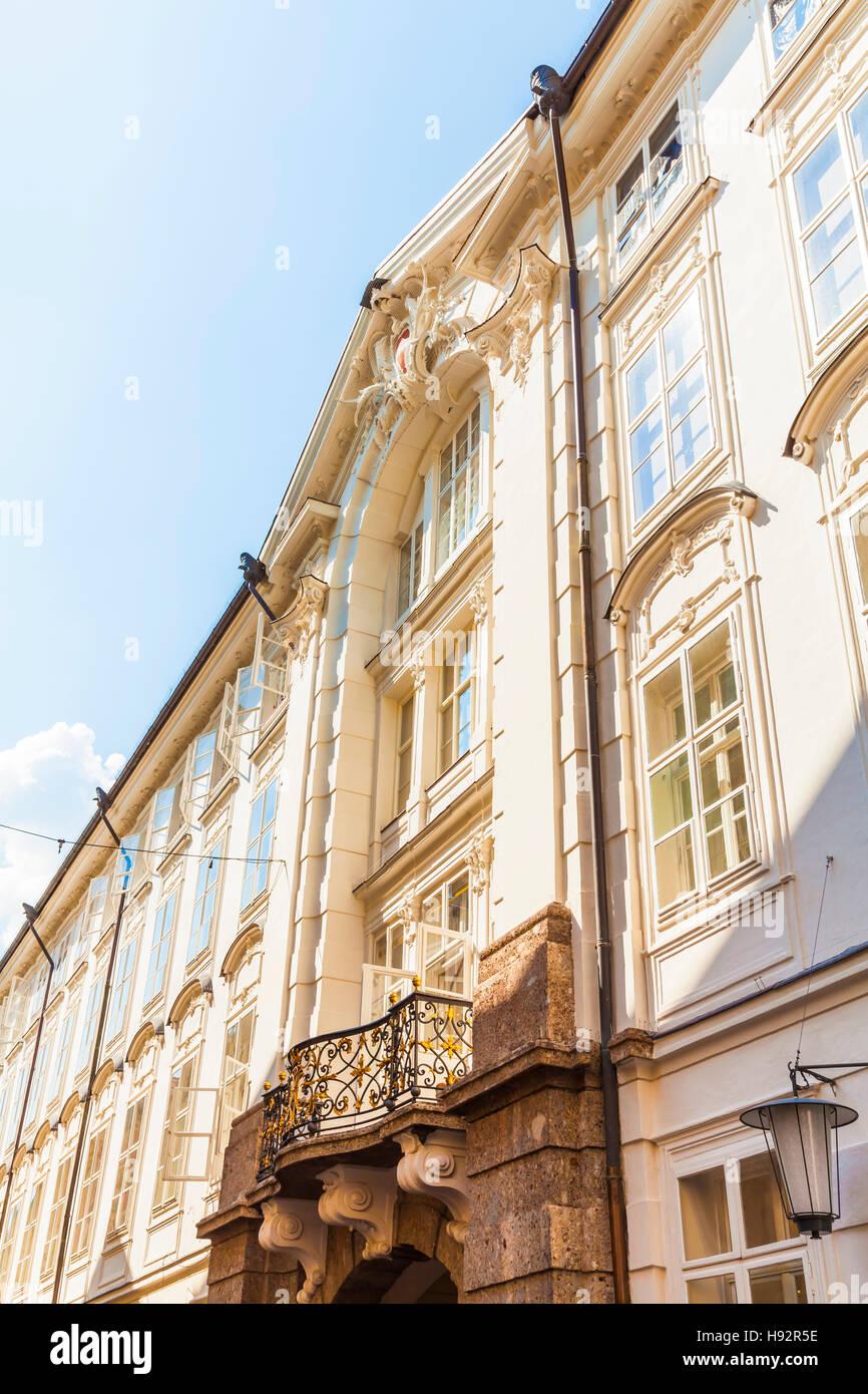 FRONT OF IMPERIAL HOFBURG AT HOFGASSE, OLD TOWN, INNSBRUCK, TIROL, TYROL, AUSTRIA - Stock Image