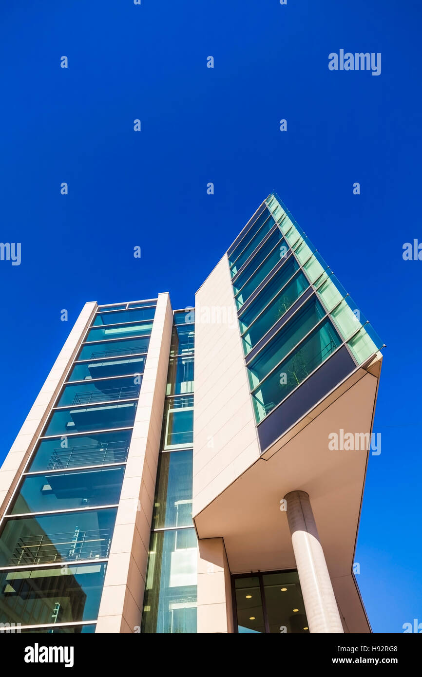MODERN OFFICE BUILDING, CHAMBER OF HANDICRAFTS, STUTTGART, BADEN-WURTTEMBERG, GERMANY - Stock Image