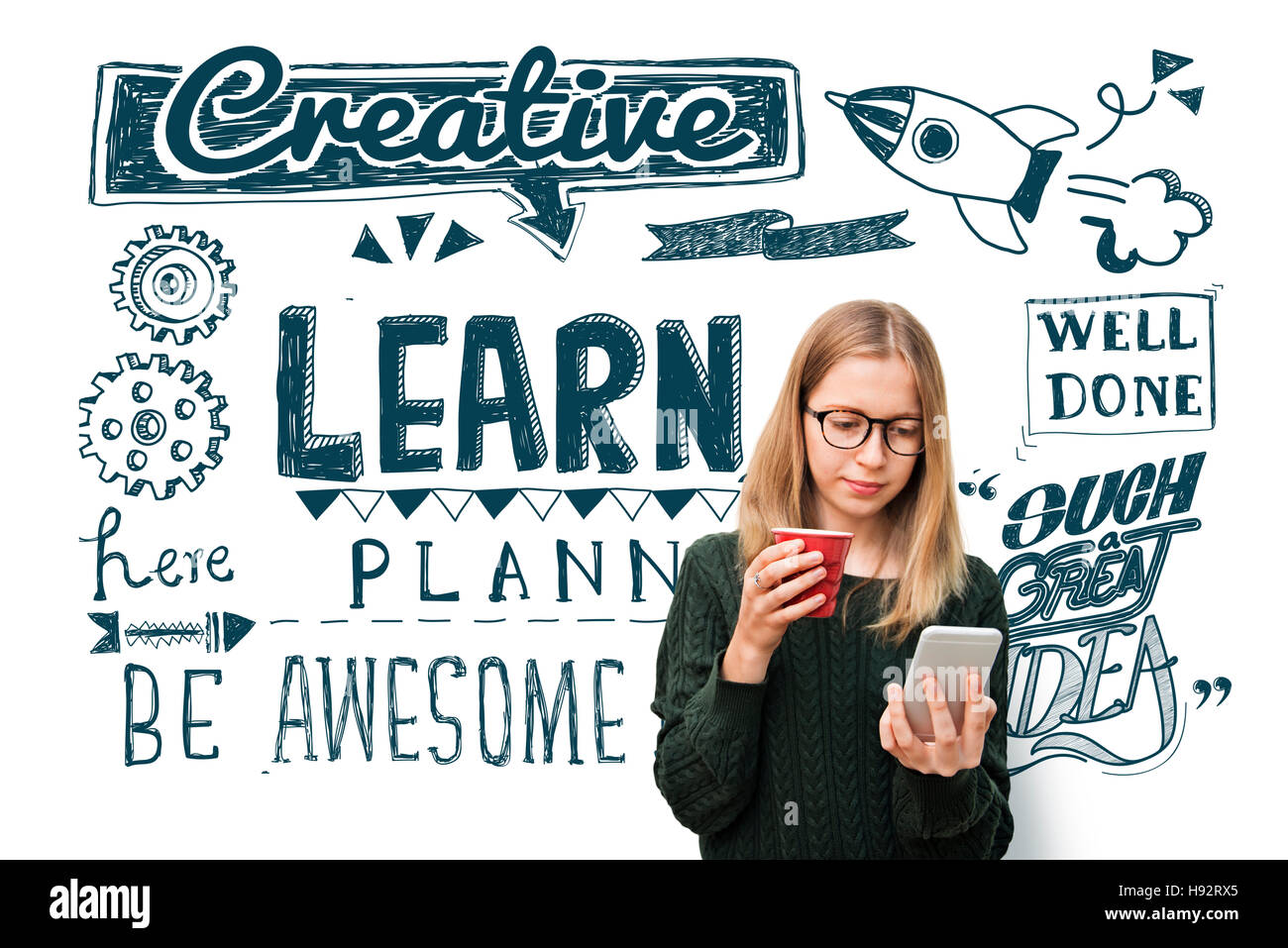 Learn Insight Education Knowledge Wisdom Ideas Concept - Stock Image