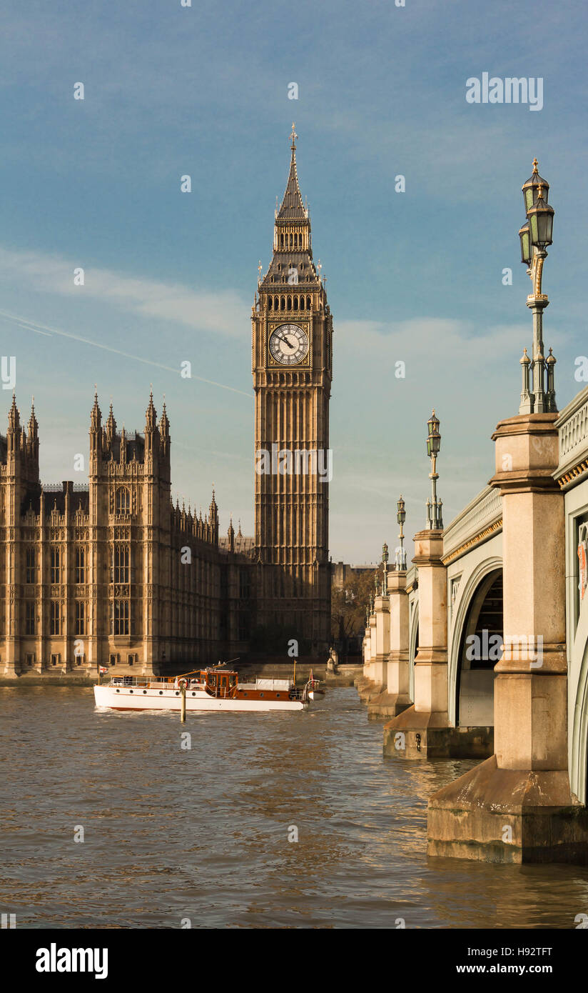 The Big Ben is  British cultural icon ,the tower is one of the most prominent symbols of the United Kingdom. Stock Photo