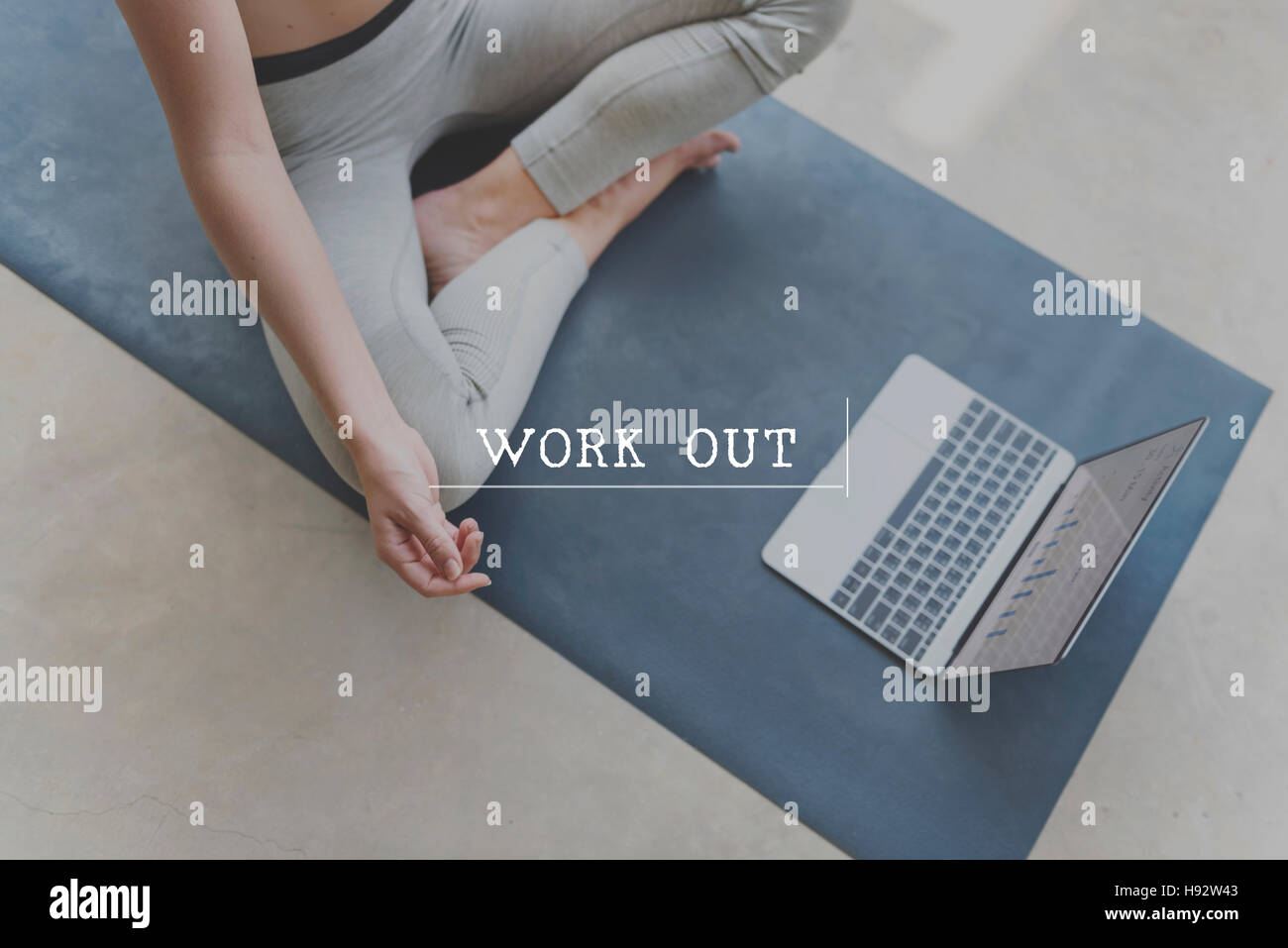 Work Out Cardio Wellbeing Exercise Fitness Active Concept - Stock Image