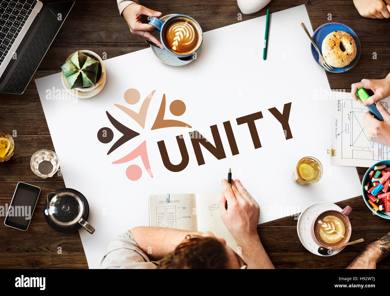 Variety Unity Treatment Togetherness Graphic Concept - Stock Image