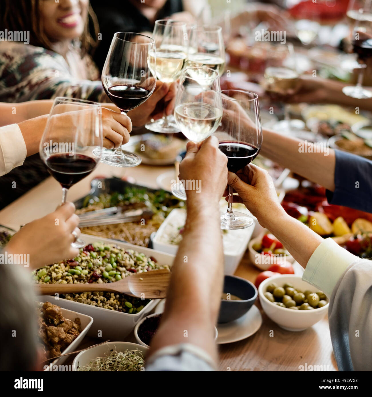 Brunch Choice Crowd Dining Food Options Eating Concept - Stock Image