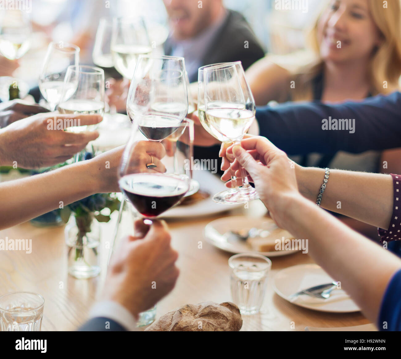 Business People Party Celebration Success Concept - Stock Image