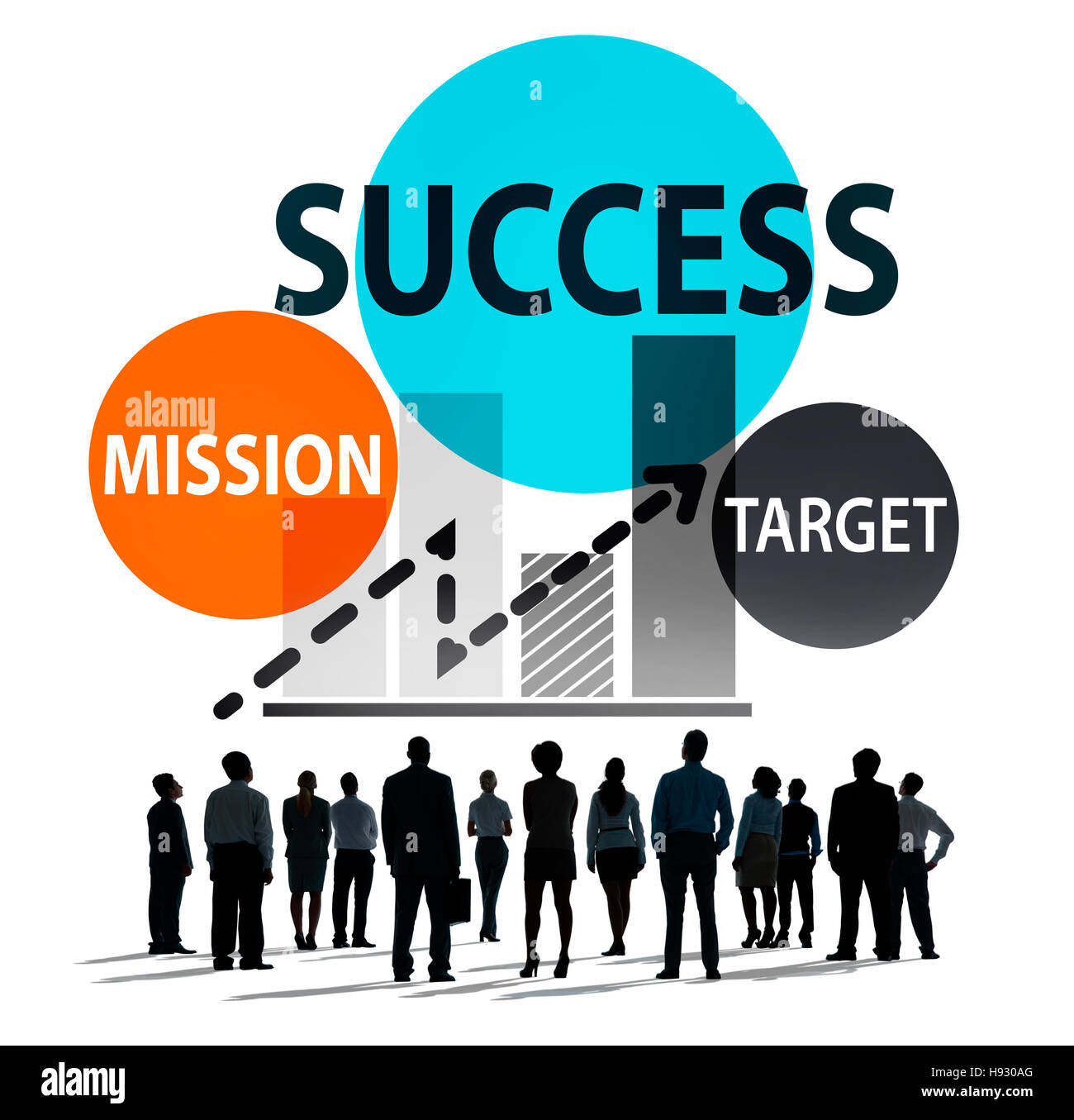 Success Mission Tarket Buisness Growth Planning Concept - Stock Image