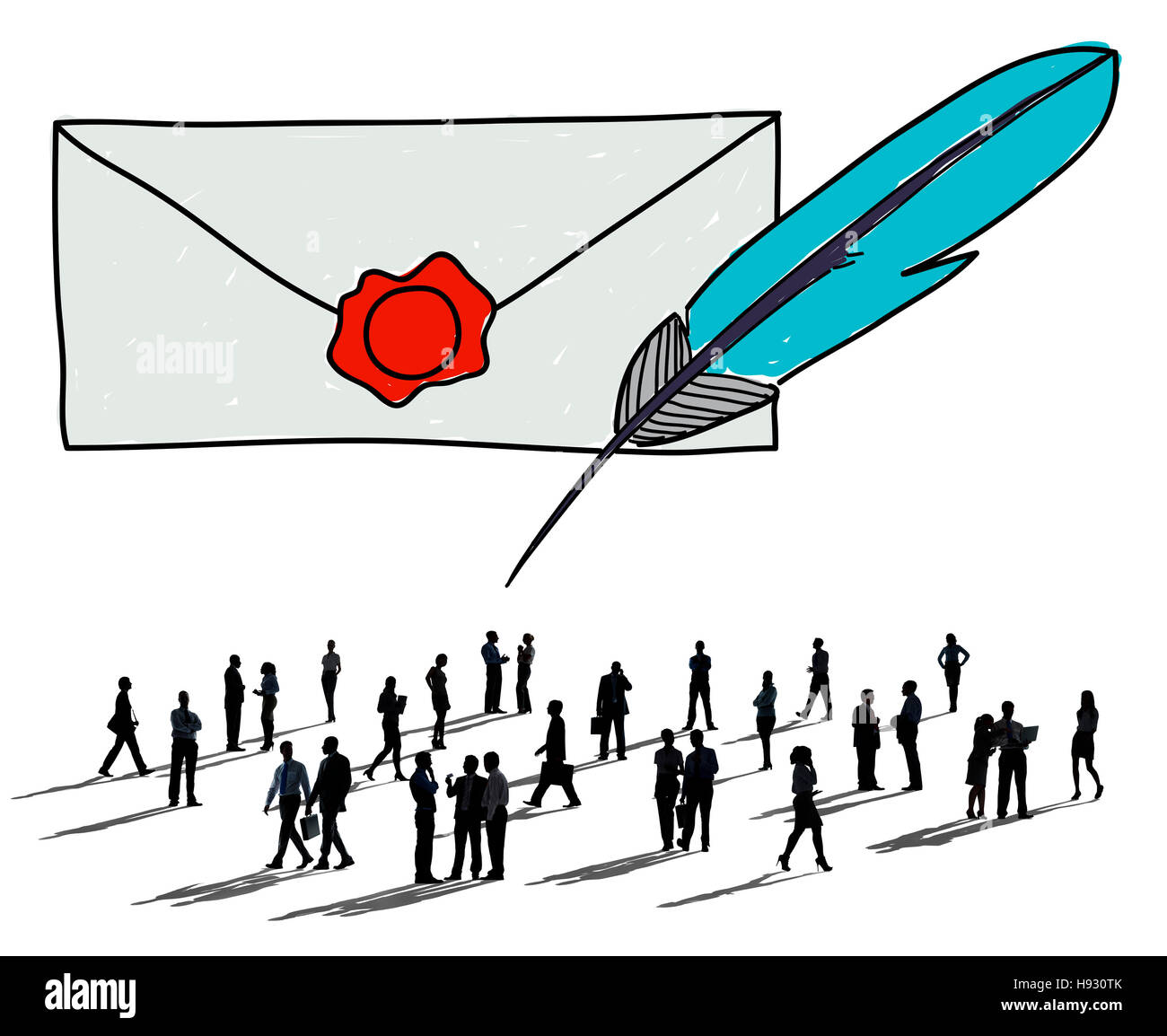 Mail Correspondence Communication Connection Concept - Stock Image