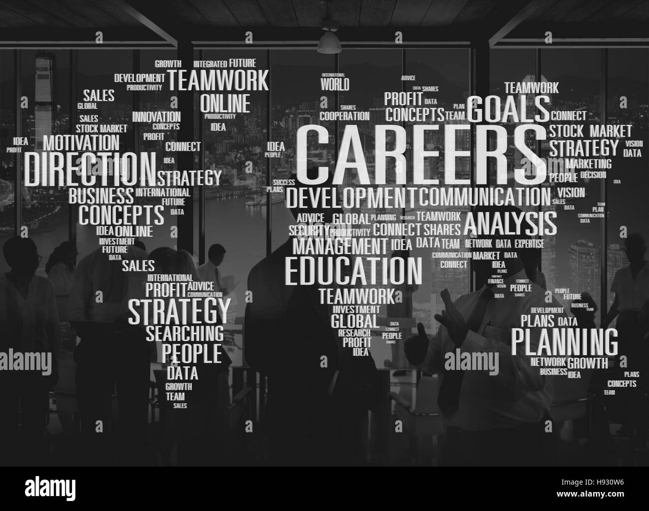Careers Analysis Cooperation Data Development Concept - Stock Image