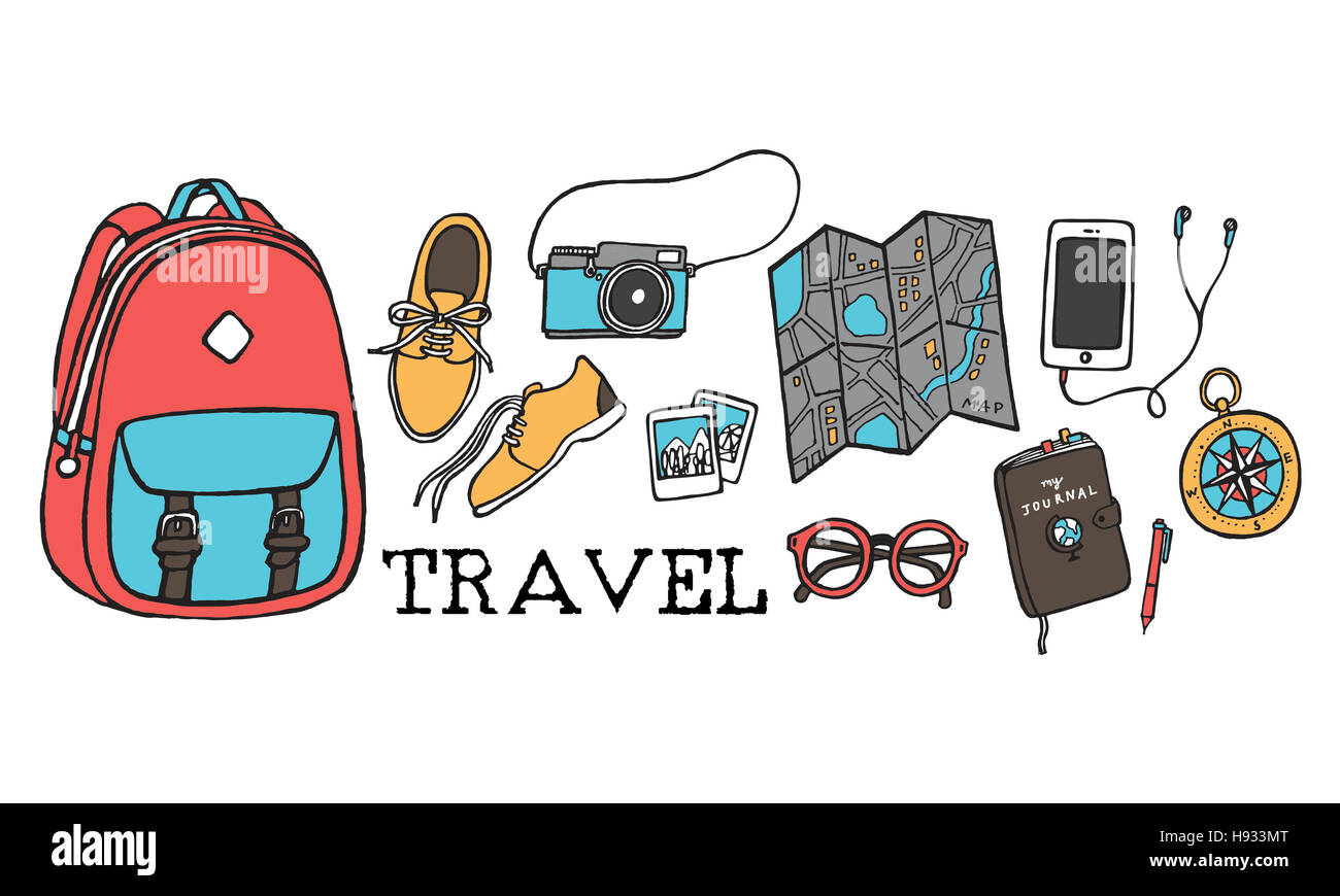 Travel Traveling Tourist Holiday Vacation Journey Concept - Stock Image