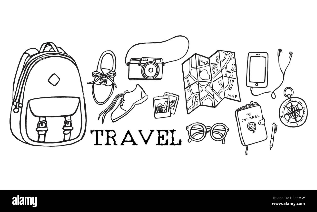 Travel Tour Tourism Holiday Vacation Visiting Concept - Stock Image