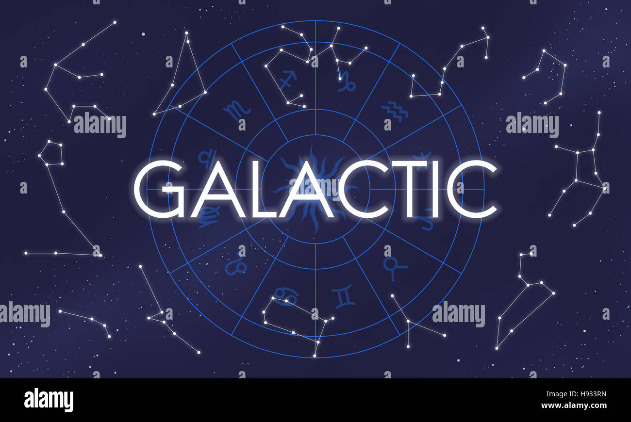 Galactic Atmosphere Cosmos Energy Exploration Concept - Stock Image