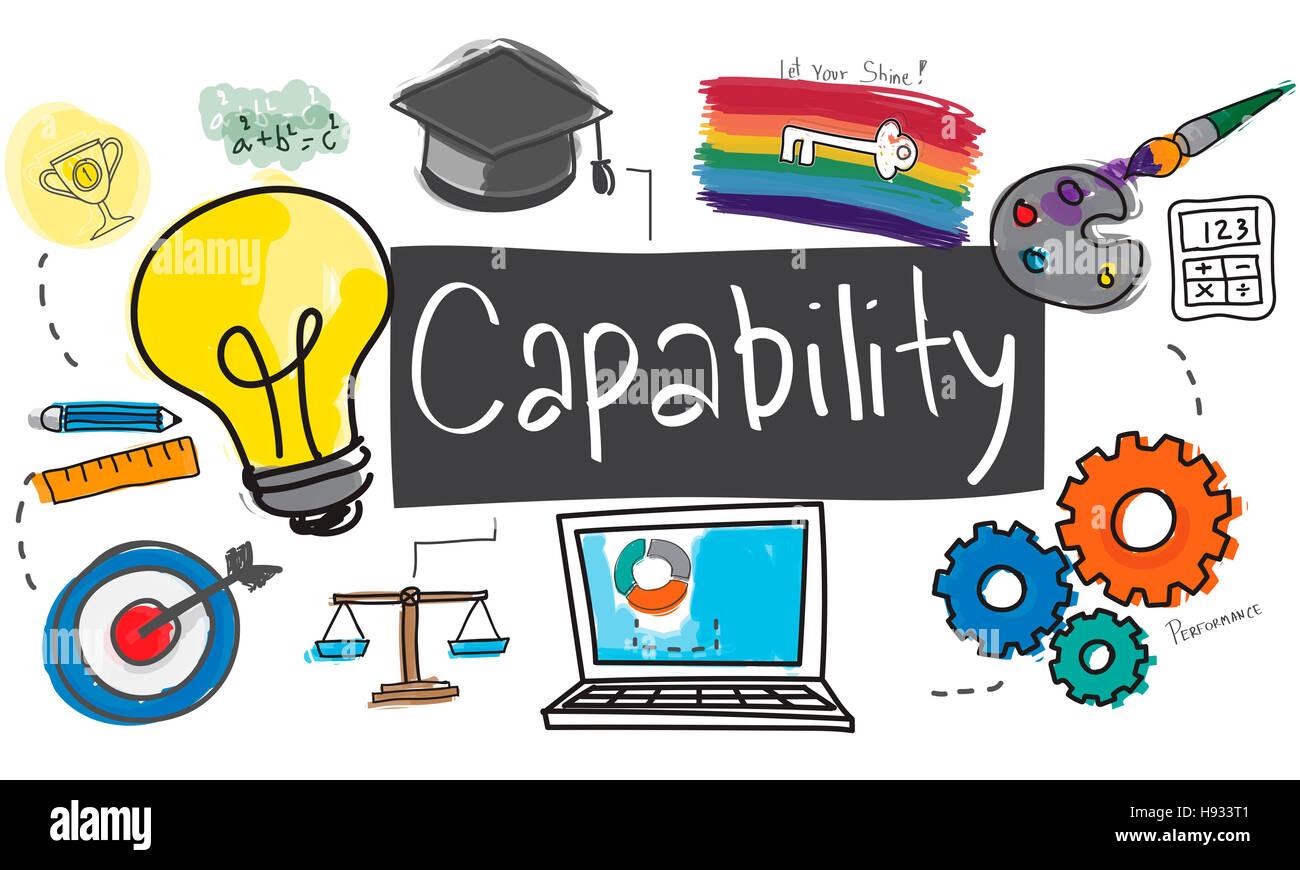 Ability Capability Creativity Drawing Icon Illustration Concept - Stock Image
