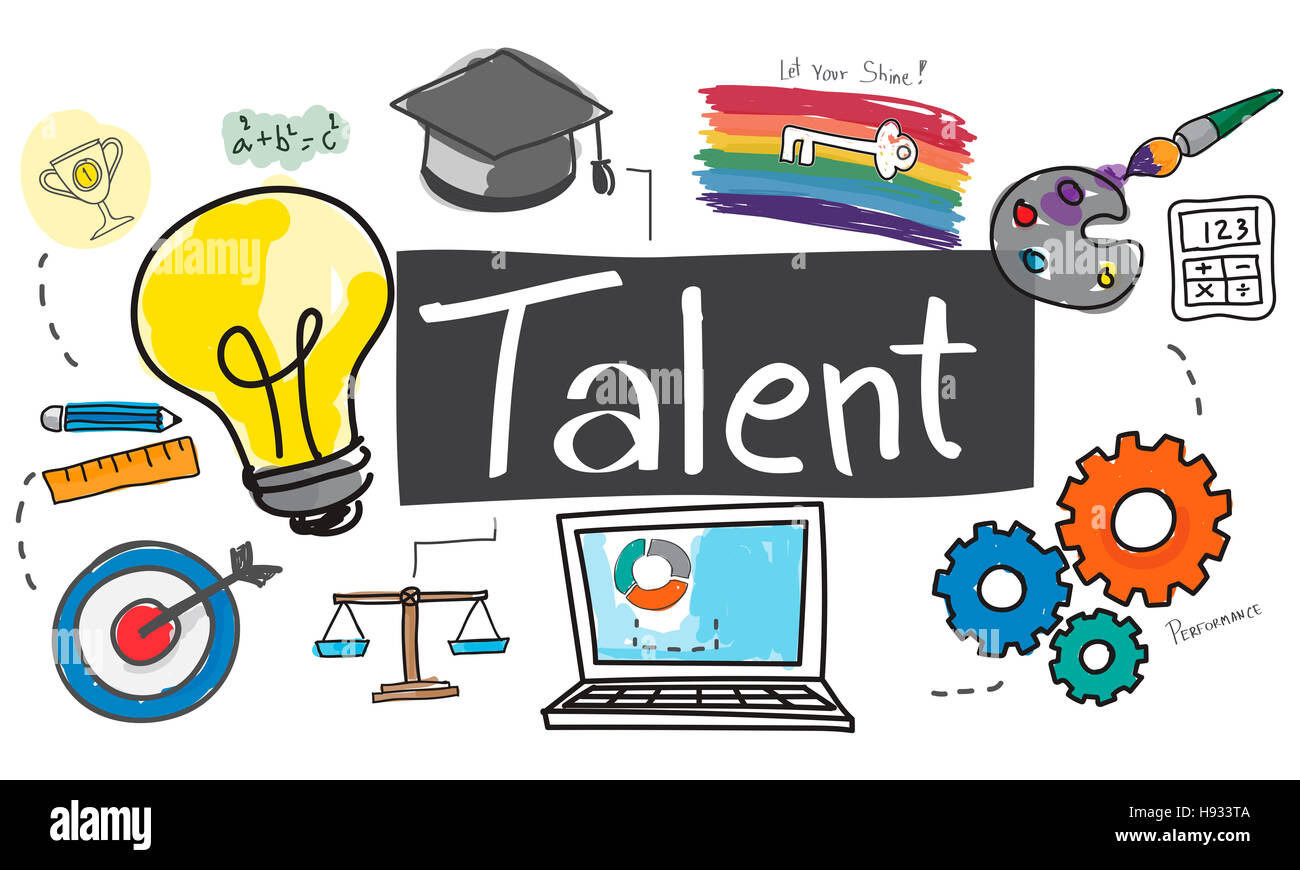 Talent Occupation Abilities Capacity Expertise Concept - Stock Image