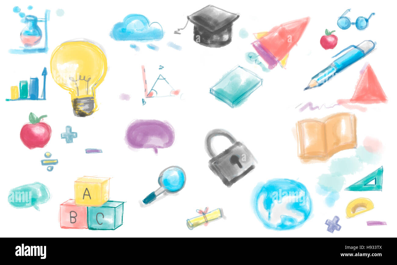 Drawing Inspiration Innovation Ideas Creative Concept Stock Photo