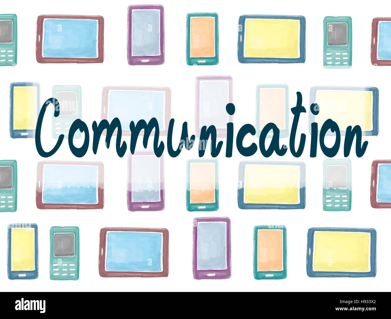 Communication Communicate Connection Interaction Concept - Stock Image