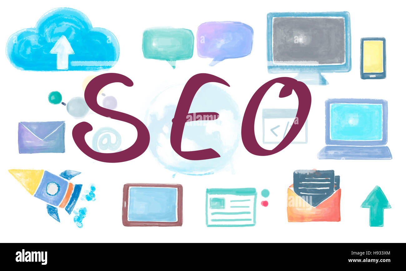 SEO Search Engine Optimization Browsing Searching Concept Stock Photo