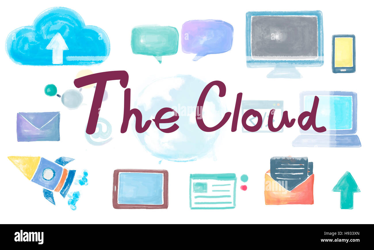 The Cloud Network Connection Globalization Communication Concept - Stock Image